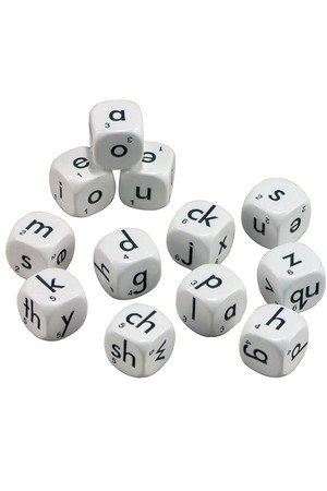 Dice - Alphabet 6 Face: Lowercase 22mm