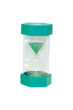 Small Coloured Sand Timer - Green: 1 Minute