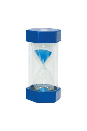 Small Coloured Sand Timer - Blue: 5 Minutes
