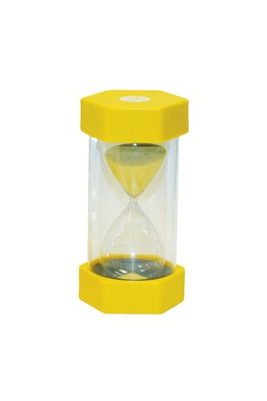 Small Coloured Sand Timer - Yellow: 3 Minutes