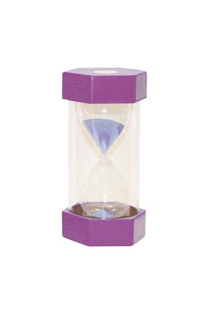 Small Coloured Sand Timer - Purple: 15 Minutes