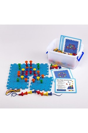 Geo Peg Board Activity Set