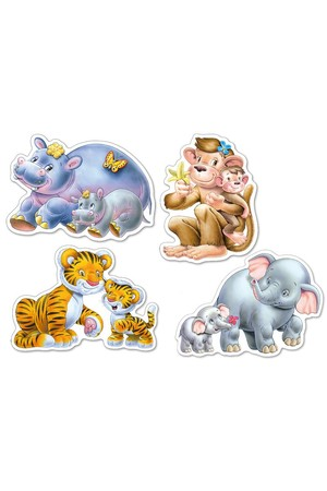 Jungle Babies Puzzles - Set of 4