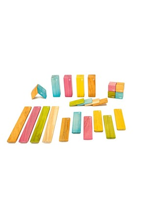 Magnetic Wooden Blocks - Tints (24 Pieces)