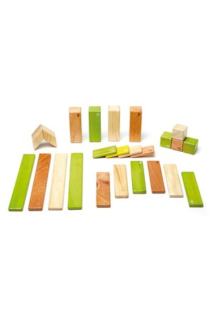 Magnetic Wooden Blocks - Jungle (24 Pieces)