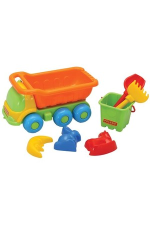 Truck and Sand Play Set - 7 Pieces