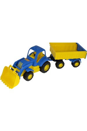 Mighty Tractor-Loader with Trailer