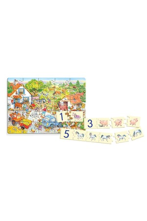 25 Piece Puzzle - Counting on The Farm