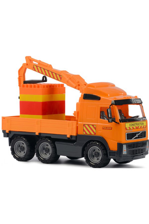 Volvo Powertruck Truck with Crane Arm and Construction Set Supermix