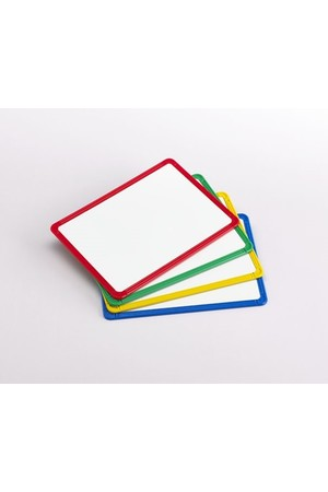 Magnetic Plastic Framed White Boards - Set of 4