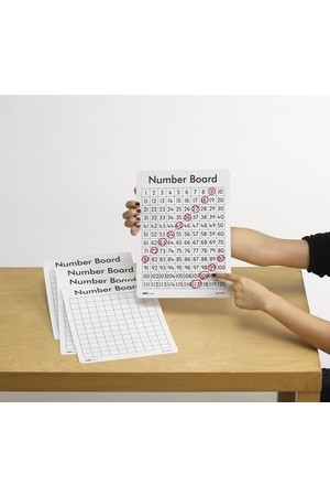 Dry Erase Boards (Double-Sided) - Number 1-120 (Set of 30)