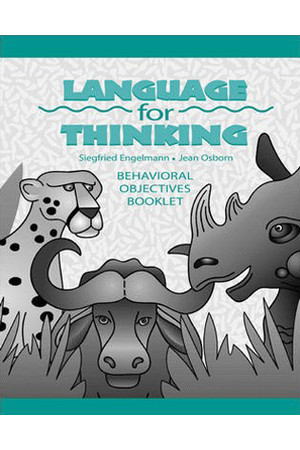 Language for Thinking - Behavioural Objectives Booklet