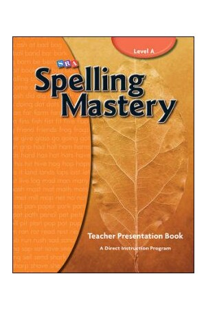 Spelling Mastery - Level A (Grade 1): Teacher Materials