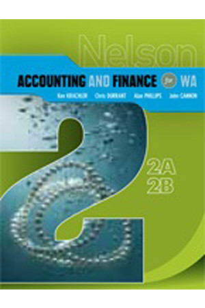 Nelson Accounting and Finance for WA - 2A/2B