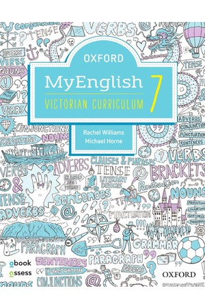 Oxford MyEnglish VIC Curriculum - Year 7: Student Book + obook/assess + Upskill (Print & Digital)