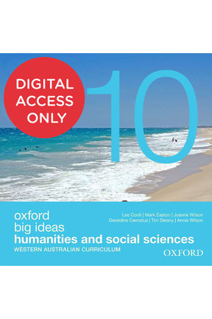Big Ideas Humanities & Social Sciences (WA Curriculum) - Year 10: Student obook/assess (Digital Access Only)