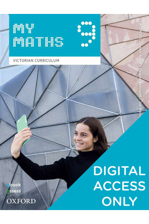 Oxford MyMaths VIC Curriculum - Year 9: Student obook/assess (Digital Access Only)