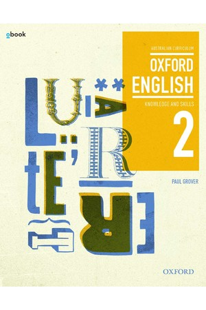 Oxford English 2 - Years 8-9: Student Book + obook/assess (Print & Digital)