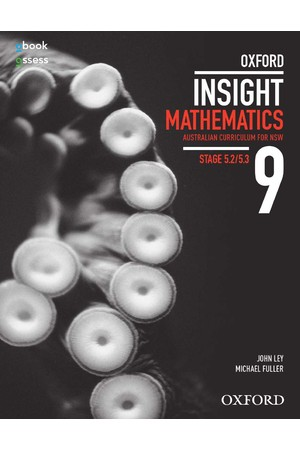 Oxford Insight Mathematics AC for NSW: Year 9 - Stage 5.2/5.3 Student Book + obook/assess (Print & Digital)