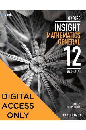 Oxford Insight Mathematics General - HSC CEC General 2: Student obook/assess (Digital Access Only)