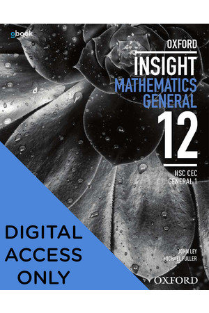Oxford Insight Mathematics General - HSC CEC General 1: Student obook/assess (Digital Access Only)