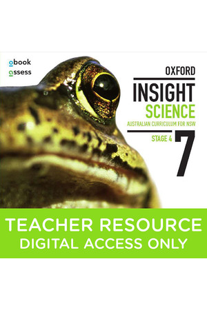 Oxford Insight Science AC for New South Wales - Year 7: Teacher obook/assess (Digital Access Only)