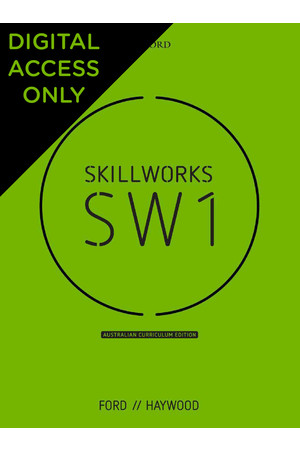 Skillworks 1 Australian Curriculum Edition - Student obook/assess (Digital Access Only)