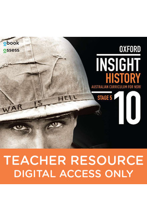 Oxford Insight History AC for NSW - Year 10: Teacher obook/assess (Digital Access Only)