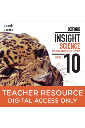 Oxford Insight Science AC for New South Wales - Year 10: Teacher obook/assess (Digital Access Only)