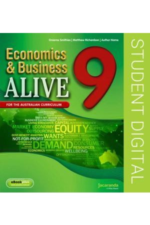 Economics & Business Alive 9 - Australian Curriculum Edition: eBookPLUS