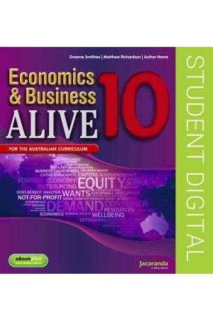 Economics & Business Alive 10 - Australian Curriculum Edition: eBookPLUS (Digital Access Only)