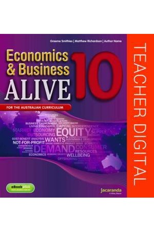 Economics & Business Alive 10 - Australian Curriculum Edition: Teacher Edition eGuidePLUS (Digital Access Only)