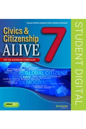 Civics & Citizenship Alive 7 - Australian Curriculum Edition: eBookPLUS (Digital Access Only)