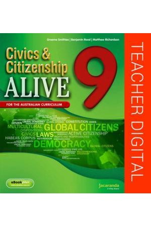 Civics & Citizenship Alive 9 - Australian Curriculum Edition: Teacher Edition eGuidePLUS (Digital Access Only)