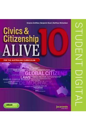 Civics & Citizenship Alive 10 - Australian Curriculum Edition: eBookPLUS (Digital Access Only)