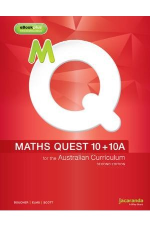 Maths Quest 10 + 10A for the Australian Curriculum - Second Edition: Print & eBookPLUS