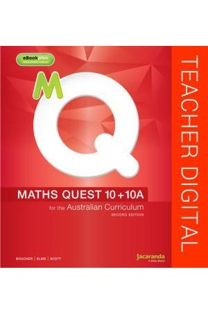 Maths Quest 10 + 10A for the Australian Curriculum - Second Edition: Teacher Edition eGuidePLUS (Digital Access Only)