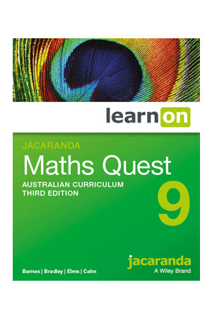 Maths Quest 9 Australian Curriculum (3rd Edition) - Student Book learnON (Digital Access Only)