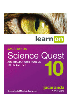 Science Quest 10 Australian Curriculum (3rd Edition) - Student Book learnON (Digital Access Only)