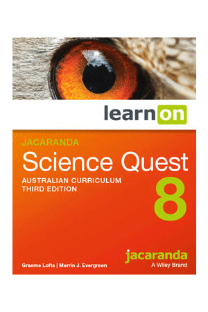 Science Quest 8 Australian Curriculum (3rd Edition) - Student Book learnON (Digital Access Only)