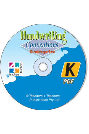 Handwriting Conventions - NSW: PDF CD (Kindergarten)