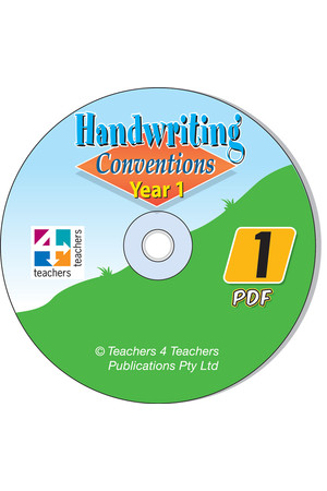 Handwriting Conventions - NSW: PDF CD (Year 1)