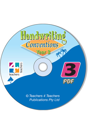 Handwriting Conventions - NSW: PDF CD (Year 3)