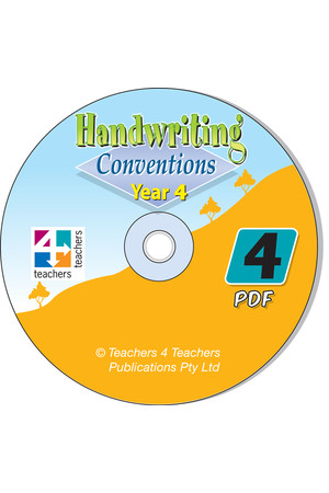 Handwriting Conventions - NSW: PDF CD (Year 4)
