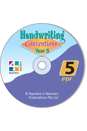 Handwriting Conventions - NSW: PDF CD (Year 5)