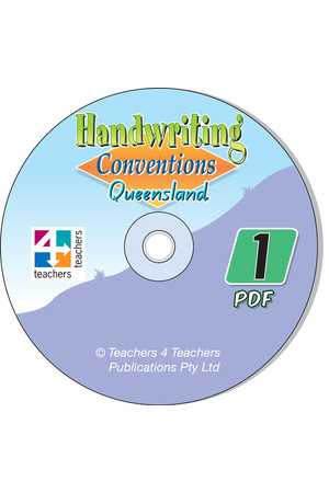 Handwriting Conventions - QLD: PDF CD (Year 1)