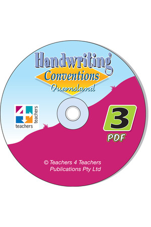 Handwriting Conventions - QLD: PDF CD (Year 3)