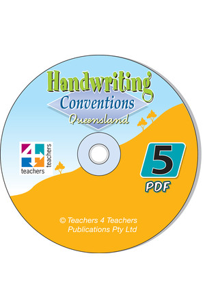 Handwriting Conventions - QLD: PDF CD (Year 5)