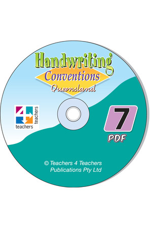 Handwriting Conventions - QLD: PDF CD (Year 7)