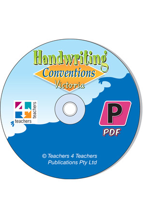Handwriting Conventions - VIC: PDF CD (Pre-Primary)
